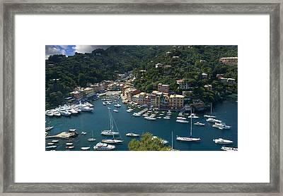 Portofino In Tuscany Framed Print by Al Hurley