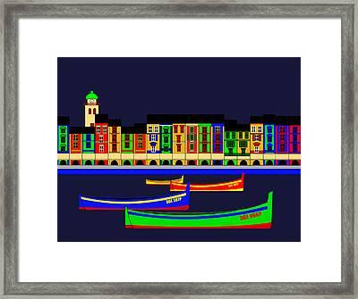 Portofino Inspirations Framed Print by Asbjorn Lonvig