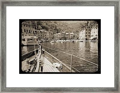 Portofino Italy From Solway Maid Framed Print by Dustin K Ryan