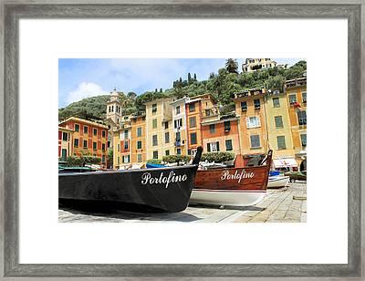 Portofino Italy Framed Print by Michael  Kenney