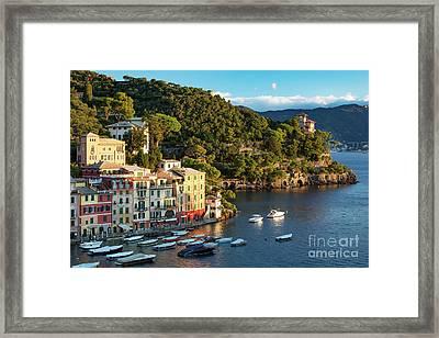 Portofino Morning II Framed Print by Brian Jannsen