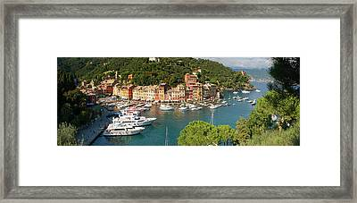 Portofino Panorama Framed Print by Cliff Wassmann
