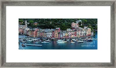 Portofino Panoramic Framed Print by Brian Jannsen