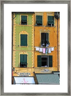 Portofino Framed Print by Paula McFann