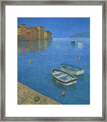 Portofino Framed Print by Steve Mitchell