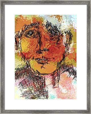 Portrait 11 Framed Print by Mimo Krouzian