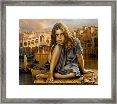 Portrait Framed Print by Arthur Braginsky