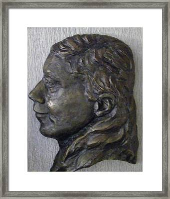 Portrait In Bronze Framed Print by Willoughby Senior