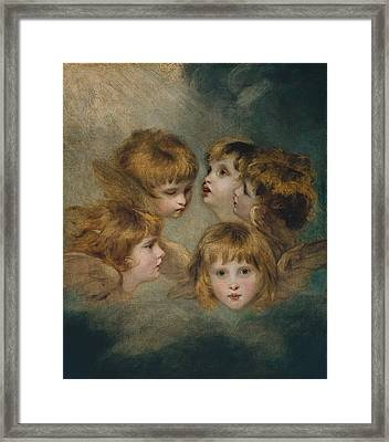 Child's Portrait In Different Views Framed Print by MotionAge Designs