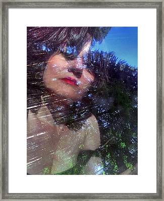 Portrait In The Forest Framed Print by Renata Vogl