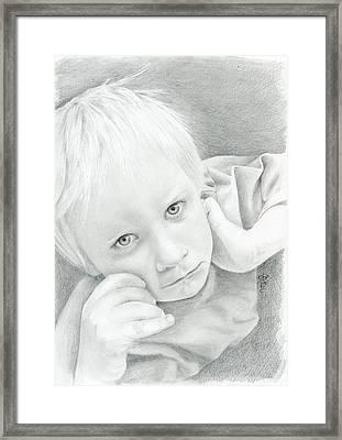 Portrait Of A Child Framed Print by Bitten Kari