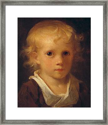 Portrait Of A Child Framed Print by Jean-Honore Fragonard