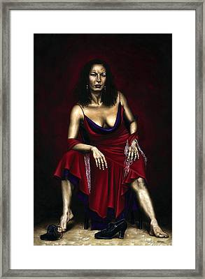 Portrait Of A Dancer Framed Print by Richard Young