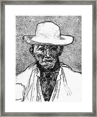 Portrait Of A Farmer Framed Print by Vincent Van Gogh