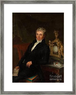 Portrait Of A Gentleman Framed Print by MotionAge Designs