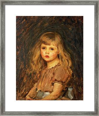 Portrait Of A Girl Framed Print by John William Waterhouse