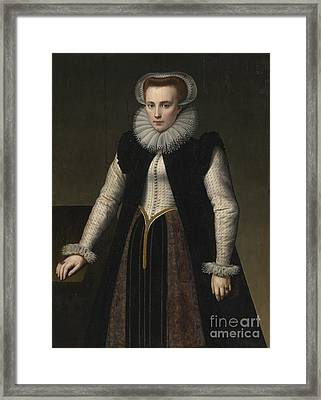 Portrait Of A Lady Framed Print by Celestial Images