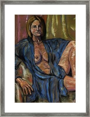 Portrait Of A Lady Framed Print by Dan Earle