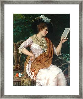 Portrait Of A Lady  Framed Print by William Oliver