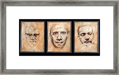 Portrait Of A Legend Framed Print by David  German