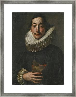 Portrait Of A Man In A Ruff Framed Print by Antonio Enrico
