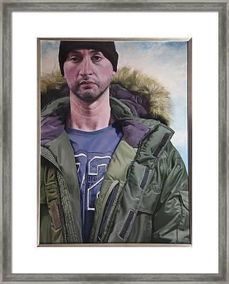 Portrait Of A Mountain Walker. Framed Print by Harry Robertson