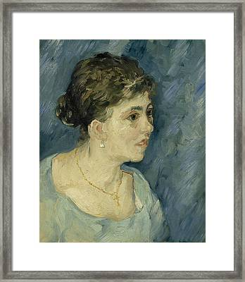 Portrait Of A Prostitute Framed Print by Vincent van Gogh