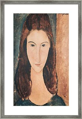 Portrait Of A Young Girl Framed Print by Amedeo Modigliani