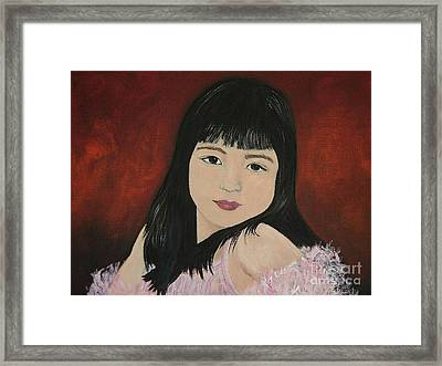 Portrait Of A Young Girl Framed Print by Reb Frost