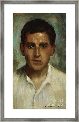 Portrait Of A Young Man Framed Print by MotionAge Designs