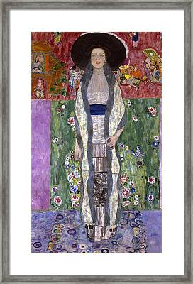 Portrait Of Adele Bloch-bauer II Framed Print by Gustav Klimt