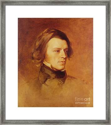 Portrait Of Alfred Lord Tennyson Framed Print by Samuel Laurence