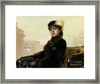 Portrait Of An Unknown Woman Framed Print by Ivan Nikolaevich Kramskoy