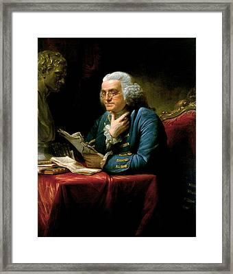 Portrait Of Benjamin Franklin Framed Print by David Martin