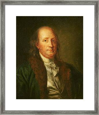 Portrait Of Benjamin Franklin Framed Print by George Peter Alexander Healy