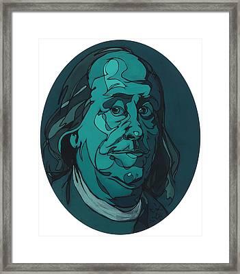 Portrait Of Benjamin Franklin Framed Print by John Gibbs