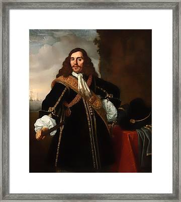 Portrait Of Captain Gideon De Wildt Framed Print by Mountain Dreams