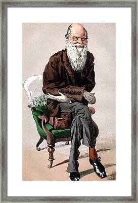 Portrait Of Charles Darwin Framed Print by James Jacques Joseph Tissot