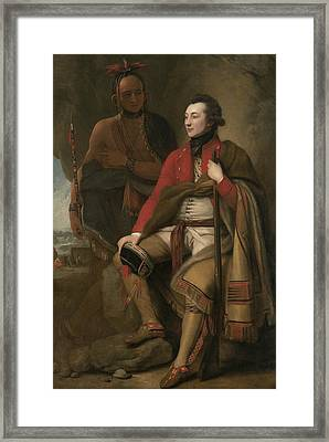 Portrait Of Colonel Guy Johnson Framed Print by Benjamin West