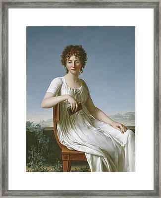 Portrait Of Constance Pipelet Framed Print by Jean Baptiste Francois Desoria