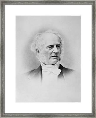 Portrait Of Cornelius Vanderbilt Framed Print by Underwood Archives