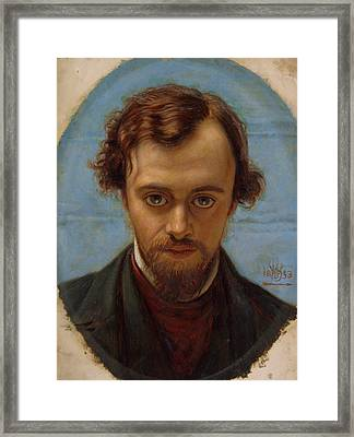 Portrait Of Dante Gabriel Rossetti At 22 Years Of Age Framed Print by William Holman Hunt