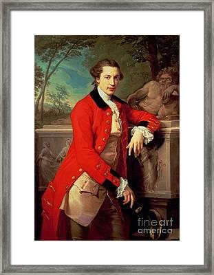 Portrait Of Edmund Rolfe Framed Print by Pompeo Girolamo Batoni
