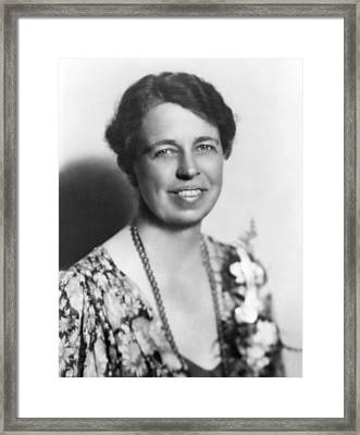 Portrait Of Eleanor Roosevelt Framed Print by Underwood Archives