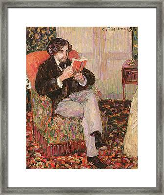 Portrait Of Felix Framed Print by Camille Pissarro