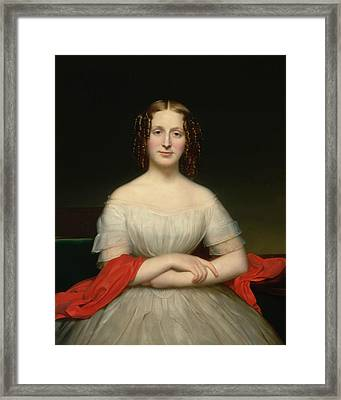 Portrait Of Fidelia Marshall Framed Print by Charles Cromwell Ingham