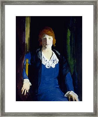 Portrait Of Florence Pierce Framed Print by George Bellows