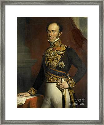 Portrait Of Governor General Of The Dutch East Indies Framed Print by Celestial Images