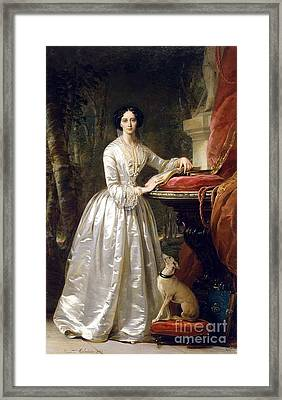 Portrait Of Grand Duchess Maria Alexandrovna Framed Print by Christina Robertson