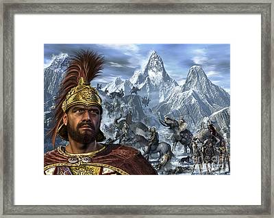 Portrait Of Hannibal And His Troops Framed Print by Kurt Miller